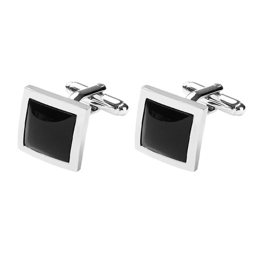 Mansjettknapper - Black onyx square (1)